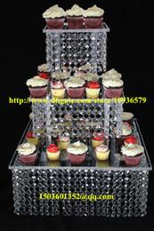 "$enCountryForm.capitalKeyWord Canada - Acrylic crystal chandelier wedding square cake stand 3 tier dessert stand centerpieces - D 11""-13-15"""