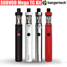 Discount kangertech subvod starter kit - 100%Original Kanger Subvod Mega TC Kit Ni200 4ml Toptank SSOCC Atomizer 2300mAh 40W vapor mods Kangertech Starter mini e