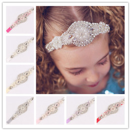 Photography Props Newborn High-Grade Baby Headbands With Beaded Rhinestone  Elastic Luxury Crystal Hairbands Girl Bridal Hair Accessories 8e1d69fbee12