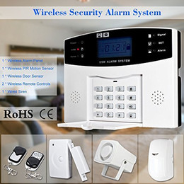 smoke detector remote alarm Australia - 2016 New SF-9908LCD Wireless GSM SMS Home Burglar Security Alarm System Detector Sensor Kit Remote Control 433MHz