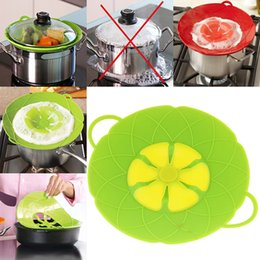 Boiling pan online shopping - New Flower Petal Boil Spill Stopper Silicone Lid Pot Lid Cover Cooking Pot Lids Utensil Pan Cookware Parts Kitchen Accessories WX9