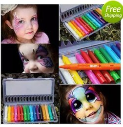 face body painting colors Australia - 16 Colors Face Painting Pencils Splicing Structure Face Paint Crayon Christmas Body Painting Pen Stick For Children Party Makeup