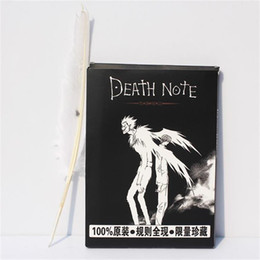 Death penDants online shopping - New Death Note Cosplay Notebook Feather Pen Book Anime Writing Journal