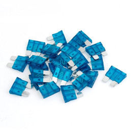 FS Hot 25 piezas 15A auto coche azul recubierto de plástico medio filo de seguridad Fusibles orden $ 18no pista en venta