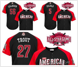 8a561e2a376 ... 30 Teams- 2015 MLB American League All Star game Baseball Jersey Los  Angeles Angels of .