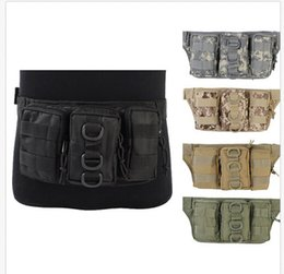 molle packs UK - Airsoft Tactical 1000D Molle Utility Convenient Triple Outdoor Sports Camping cycling Waist Backpack Pouch Pack Bag