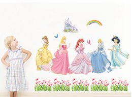 Snow White Wall Stickers Waterproof Girls Room Princess Room Décor Wall  Decals Poster Decor Art Kids Nursery Room Cartoon Sticker Rainbow Part 97