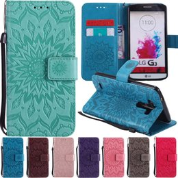 Phone Holder Lg G4 Australia - 3D Sun Flower Patterned Flip Leather Wallet Card Holder Stand Phone Case Cover For LG G3 G4 G5 G6 LS775