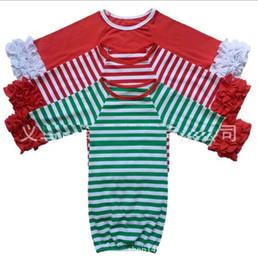 29 цветов младенческой сна ткань девочка мальчик хлопок платья рябить платье с длинным рукавом спальный мешок для 0-2T Рождество красный зеленый полоса олень Рождество на Распродаже