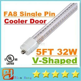 $enCountryForm.capitalKeyWord NZ - Super Bright 32W T8 Led Tube Light 1500mm 5FT Cooler Door V-Shaped Single Pin FA8 Led Tubes Lamp Warm Cold White AC 85-265V