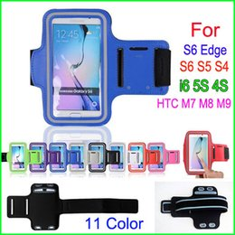 $enCountryForm.capitalKeyWord Canada - Waterproof Sports Phone Armband Workout Running Case Cycling Arm Holder Pouch For Samsung Galaxy S6 Edge S6 S5 S4 iphone 6 4S 5S cell Phone