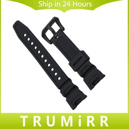 buckle strap for watches 2019 - Wholesale- Silicone Rubber Watchband for SGW-100 Watch Band Sports Waterproof Wrist Strap Stainless Steel Buckle Belt Re
