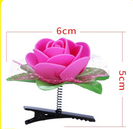 $enCountryForm.capitalKeyWord NZ - Newest Lovely Novelty Plants rose flower hair clips headwear girl Artifica rose hairpins Lucky girls Hair Accessories party hairpin
