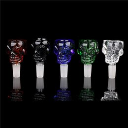$enCountryForm.capitalKeyWord Canada - Smoking Dogo Wholesale Bong Bowls 14mm 18mm Joint Skull Glass Bowls for Glass Water Pipe and Bongs