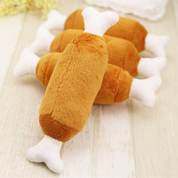 $enCountryForm.capitalKeyWord NZ - 1 Pc Lovely Dog Toys Pet Puppy Chew Squeaker Squeaky Plush Sound Chicken Drumstic Designs Toys Pet Products For Small Dogs Pets