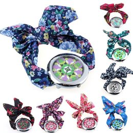 Wholesale 1PC Floral Fabric Band Dress Cloth Watch Big Quartz Womens Wrist Watch Alipower