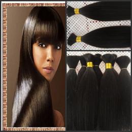 Bulks Hair For Cheap Canada - Brazilian human hair bulk,for black woman,cheap good quality hair,2015 New human hair,bulk hair G-EASY