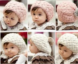 Kids Crochet Beanies Canada - winter faux rabbit fur knit baby beanie kids hat for newborn & 3-36months old baby grils,crochet bonnet enfant,chapeu infantil
