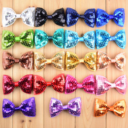 $enCountryForm.capitalKeyWord NZ - New Arrival 50pcs lot 19C Embroidery Sequin Bows For Baby Girls High Quality Christmas Gifts Hair DIY Accessories