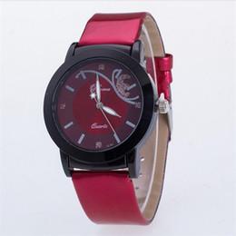 China Geneva watches Roman Numerals women Sport Watch Faux leather quartz Exquisite wrist For mens Watches Automatic Luxury women 191 cheap geneva roman numeral watch suppliers