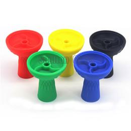 $enCountryForm.capitalKeyWord Canada - Soulton Glass Heat Resistant 3 Vortex Colorful Silicone Hookah Bowl High Grade Silicone Shisha Bowl Diamater 8cm 2016 Wholesale DHL HB-005