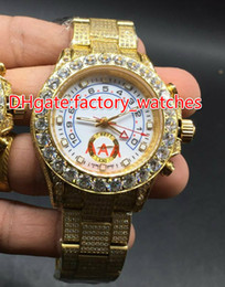 $enCountryForm.capitalKeyWord Canada - High quality full iced out gold case hip hop rappers watch full works huge diamonds bezel wristwatch shiny lab stones watches