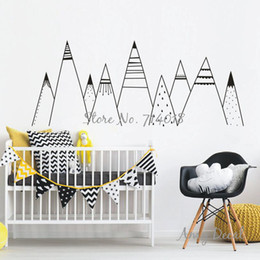 pattern decor Canada - Patterned Mountains Wall Decal Mountain Woodland Nursery Tribal Wall Decals Nordic Style Home Decor Vinyl Wall Stickers A836