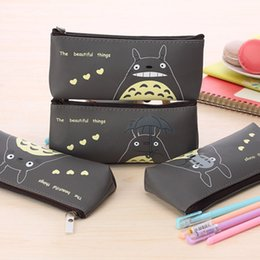 ToToro children bag online shopping - Cartoon Miyazaki Totoro Pencil Bags Children Kids Pen Bags PU Waterproof Stationery Bags Promotion Xmas Gift for Boys Girl17111409