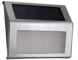Vente en gros Énergie solaire extérieure 2 LED lumière escalier manière mur jardin cour lampe en acier inoxydable chemin étape escaliers étage éclairage