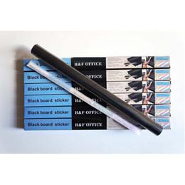 Pegatinas de la pared de la pizarra Pizarra Black Chalk Board Sticker Mini Portable 45 * 200 cm Vinilo extraíble PVC con tizas para niños Niños en venta