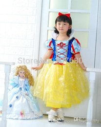 Filles Habillent Fournisseurs En Gros Pas Cher-Cosplay costume en gros-Party fournisseur mignon Little Girl Snow White Skirt cosplay costume Halloween Robe Princesse