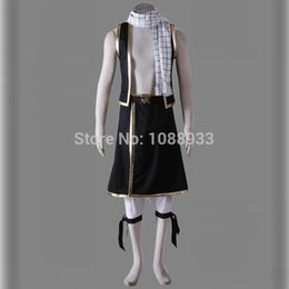 Halloween Costumes For Plus Sizes Canada - New Japanese Anime Fairy Tail Cosplay Adult Natsu Dragneel Costume Halloween Party Costume for Men Plus Size Custom
