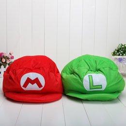 Video Games Costume Canada - Retail Super mario cap Green Luigi Plush hat Thick cotton Mario costume hat