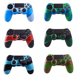 $enCountryForm.capitalKeyWord Australia - New Soft Silicone camouflage Rubber Case Cover For Sony Play Station Dualshock 4 PS4 Wireless Controller Skin PS4 Controller