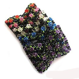 $enCountryForm.capitalKeyWord UK - Flower Bow Glass Bead Women Girls Crystal Rhinestone Bow Hair Clip Beauty Hairpin Barrette Head Ornaments Hair Accessories