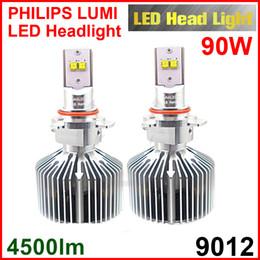 Xenon Beams Headlights Canada - 9012 HIR2 45W Bulb 4500lm LUMILED Headlight Beam LUXEON MZ Xenon White 6000K CAR Truck 90W Pair 9000lm H4 H7 H13 9004 9007 9005 9006 LED Kit