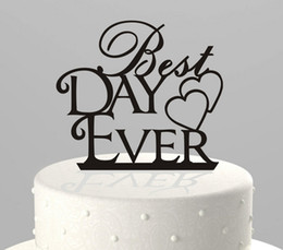 $enCountryForm.capitalKeyWord NZ - Best Day Ever Letter In Cake Top Creative Wedding Cake Decorations Wedding Birthday Festival Party Decorations Cake Topper Cheap