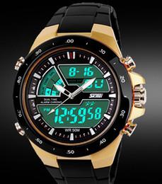 Men S Sport Clock Canada - Skmei Men Sport Watch Relogio Masculino Waterproof Silicone quartz-watch Clock Male S Shock Military Casual Sports Men's Watches
