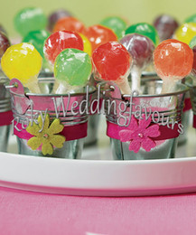 tin buckets favors 2018 - FREE SHIPPING! Galvanized Tin Pails ,wedding favors,Candy Package, party supply party table decoration mini bucket cheap