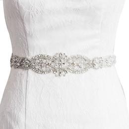 2018 S234 IN STOCK SPEDIZIONE GRATUITA Wedding Bridal Cinture Sash Cristallo Perline Abito Da Sposa Accessori Sash Consegna Veloce