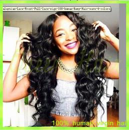 Ombre Auburn Wigs Black Women NZ - brazillian virgin hair body wave 7a unprocessed virgin hair lace front wigs full lace human hair wigs for black women