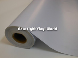 white sticker film Canada - Printable White One Way Vision Vinyl Film One Way Vision Window Film For ECO Solvent Printer Size:1.07x50M Roll
