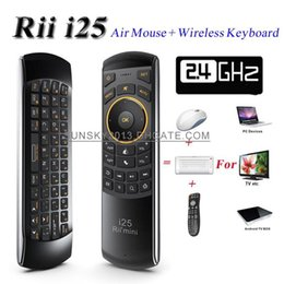 5292e792d8d 2015 New Wireless Keyboard Rii Mini i25 2.4GHz Fly Air Mouse 6 Axis QWERTY  Keyboards IR Remote Control for Android TV Box Smart Mini PC Game