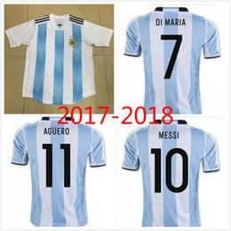 ... Retro Version 1986 World Cup Argentina national team home Soccer jersey  10 Messi Maradona CANIGGIA Top 2017 New fashion Argentina diego ... a9853b749b926