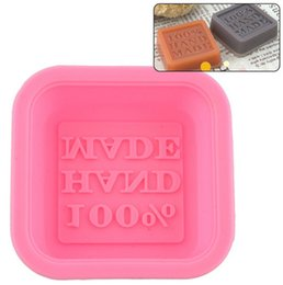 Wholesale Art Molds UK - Handmade Soap Molds DIY Soap Mold Cute Craft Art Square Silicone Oven Cake Baking Mold