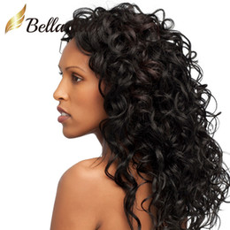 Medium Brown Curly Wig Canada - Wigs Human Hair Curly Lace Wigs Lace Front Wigs for Black Women Brazilian Virgin Human Hair Weaves Medium Brown Lace Color Bellahair