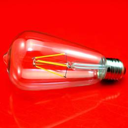 Bubble Ball Bulb Lamp UK - ST64 Dimmable Edison light bulb Led Lamp E27 AC220V 2W 4W Filament Led Bulb Lights 360 Degree Warm White E27 ST64 Bulb Lights