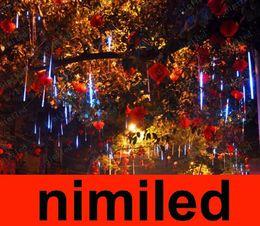Red Tube Flash Canada - nimi621 Outdoor Waterproof Double Side 60cm 36LED 36 LED Meteor Rain Tube Light Christmas Ornament Lamp Fairy Wedding Flash LED Lighting