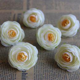 "Discount white tea roses artificial - Silk Spring Camellia Flower Dia. 3.5cm 1.38"" 240Pcs lot Artificial Flowers Tea Rose Cmallias for Wedding Centerpiec"
