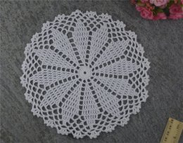 $enCountryForm.capitalKeyWord UK - DIY Design Wedding Handmade Crochet Coasters Doily Placemats Crocheted Doilies Size 8 inches 30 PCS  LOT Custom Color _DSC0036